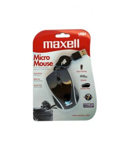 Mouse Maxell Micro Retractil USB