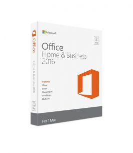 Office Home & Business 2016 – Para Mac
