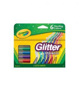 Marcadores 6 Colores con Glitter Crayola