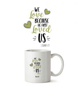 Taza Blanca The Truth 1JN T001