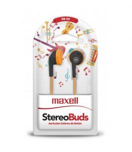 Auricular Maxell EB-95 Stereo – Naranja/Negro