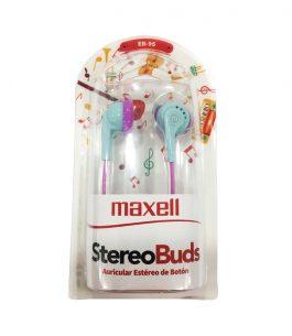 Auricular Maxell EB-95 Stereo – Celeste/Rosa
