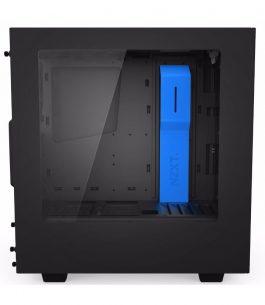 Gabinete Gaming NZXT S340 – Negro/Azul