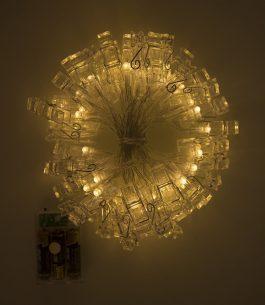 Luces LED con pinzas