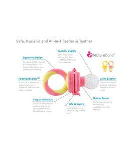 Chupete Alimentador color rosa