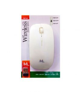 Mouse Wireless 2.4 Ghz Mtek PMF423 – Blanco