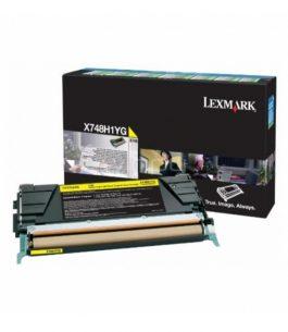 Tóner Lexmark Amarillo X748H1YG