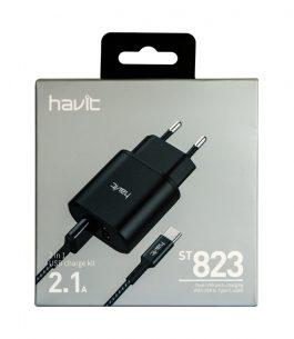 Cargador + Cable Tipo C 2.1A HV-ST823