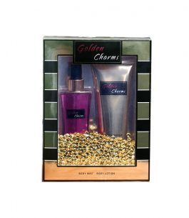 Kit Perfume + Loción Scenabella Golden Charms