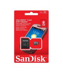 Memoria MicroSD 8GB SanDisk