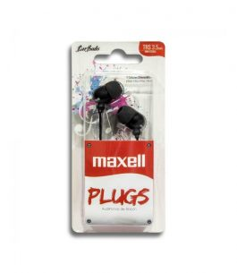 Auricular Maxell Buds Plugs IN-225 – Negro