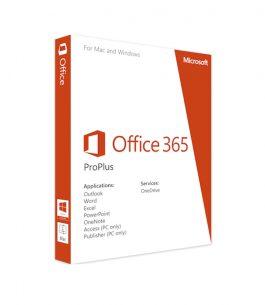 Office 365 ProPlus 5 Dispositivos SNGL OLP NL – Suscripción Anual