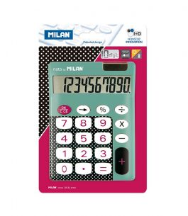 Calculadora 10 dígitos Dots & Buttons turquesa Milan 150610DBBBL