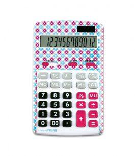 Calculadora 12 dígitos Azul/Rosa Milan