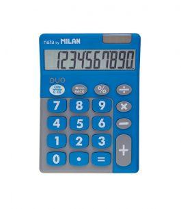 Calculadora 10 dígitos Duo Azul Milan 150610TDBBL