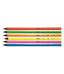 Blister 6 Lápices de Colores Fluo Triangulares Milan