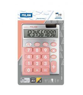 Calculadora 10 dígitos Silver Rosa Milan 159906SLPBL