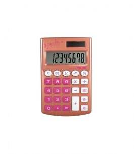 Calculadora 8 dígitos Pocket Copper Rosa Milan
