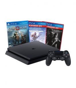 Consola PlayStation 4 1TB con THE LAST OF US, GOD OF WAR, HORIZON