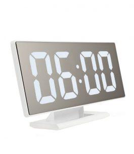 Reloj despertador Digital con efecto espejo