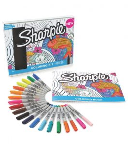 Kit 20 Marcadores Sharpie Aquatic con Libro de colorear