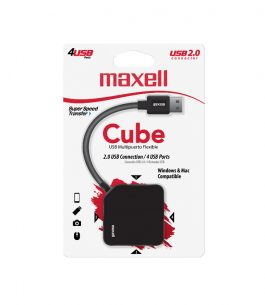 HUB USB Maxell 2.0 Cubo 4 Puertos