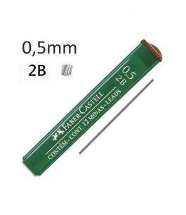 Minas Faber Castell 2B 0.5mm