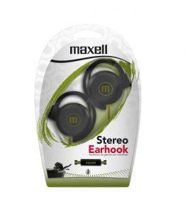 Auricular Maxell Stereo Earhook – Verdes