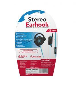 Auricular Maxell Stereo Earhook – Celeste