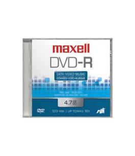 Disco Maxell Caja DVD-R 4.7GB 120min 16x