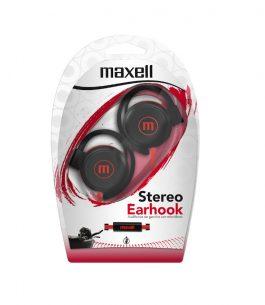 Auricular Maxell Stereo Earhook – Rojo