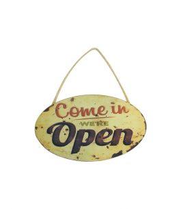 Placa de Madera Open 155127