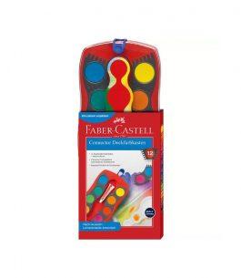 Acuarela Faber Castell en Pastilla x 12 Unidades