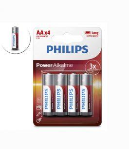 Pila AA Philips Alkaline x 4
