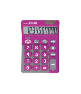 Calculadora Milan Dúo Rosa 10 Dígitos