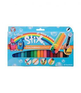 Marcadores Artline Stix Colouring 20 Colores
