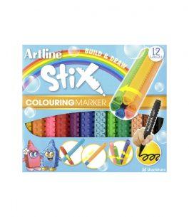 Marcadores Artline Stix Colouring 12 Colores