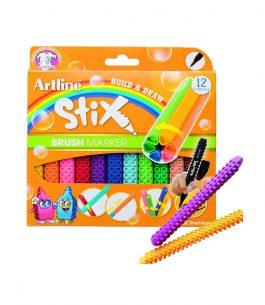 Marcadores Artline Stix Brush 12 Colores