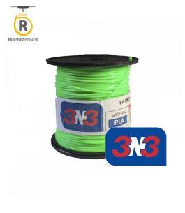 Filamento 3N3 Impresora 3D – PLA Verde Fluor 500gr