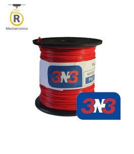 Filamento 3N3 Impresora 3D – PLA Rojo 500gr