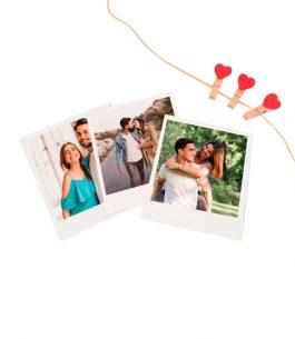 Combo 12 Fotos Polaroid + Pinza Decorativa Corazón + Piolin