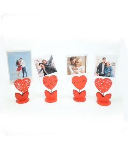 Combo 2 Fotos Polaroid + Porta Tarjetas Corazón