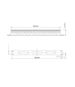 Ordenador de cable cerrado para rack – 1U